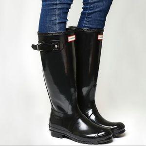 Hunter Original Gloss Tall Rain Boots Size 5